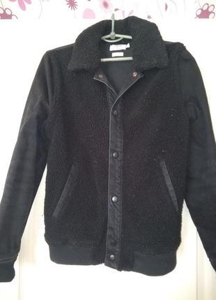Котоновый пиджак с вставками шерсти