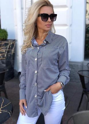 Рубашка француз гусиная лапка отменное качество