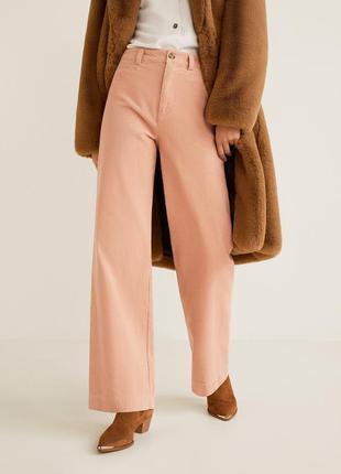 Широкие брюки вельветовые палаццо mango
