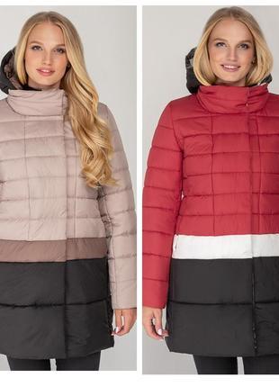 Новинка! демисезонная куртка-пальто томи - 42-52 рр