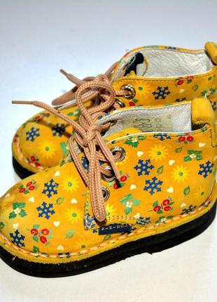 Minibel. кожаные цветные ботинки . 20 р-р