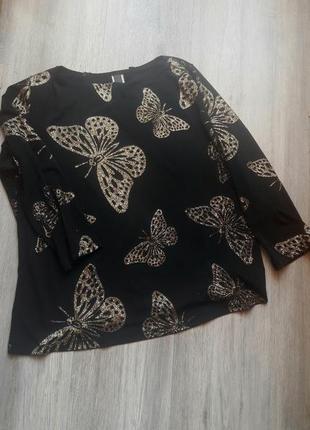 Блуза с бабочками, л