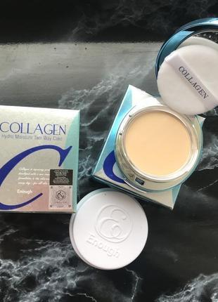Самая нежная пудра collagen 13грам +13грам запасной блок тон 13 и 21 300грн оригинал 100%,