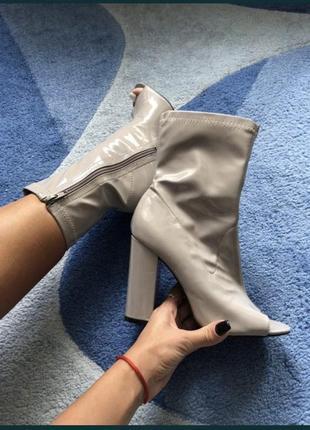 Ботинки ботильоны с открытым носком