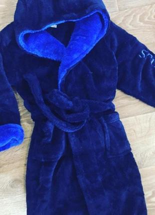 Мальчиковые махровые тёплые халаты, все размеры