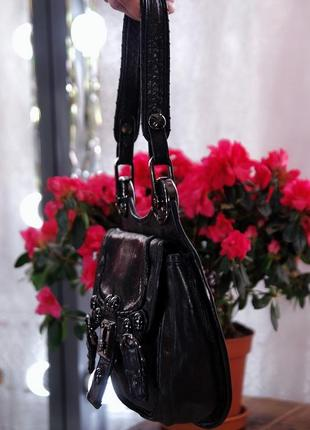 Италия брендовая натуральная кожаная сумка на коротких ручках из натуральной кожи