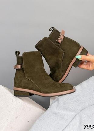 Elite collection стильные ботинки деми натуральный итальянский нубук код 7993