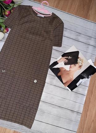 Трендовое платье в клетку от zara