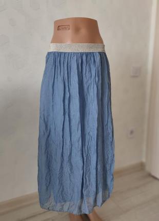 100/ натуральний шовк 🔥 модная юбка италия