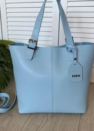 Новая большая вместительная кожаная сумка