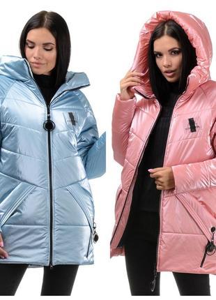 Супер новинка ! молодежная зимняя куртка-пуховик дождик - 42-46 рр