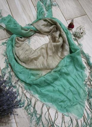 Шелковый платок с бахромой hallhuber