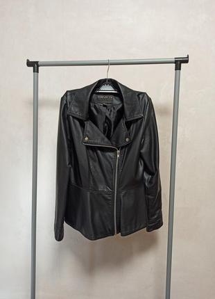 Куртка-байкер с баской
