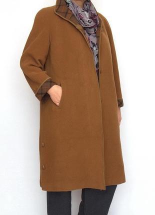 Пальто hensel & mortensen, шерсть, кашемир. большой размер