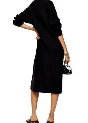 Длинное трикотажное платье topshop