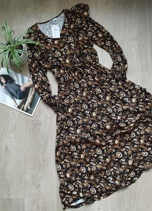Платье миди в цветочный принт reserved