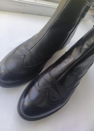 Кожаные итальянские ботинки челси vera pelle