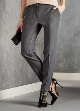 Серые классические брюки с шерстью