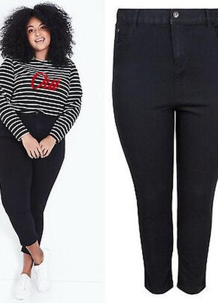 Черные джинсы скинни на высокой посадке skinny mom denim co