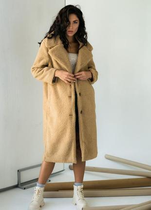Теплое пушистое пальто женское шуба