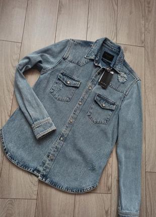 Джинсова куртка сорочка zara