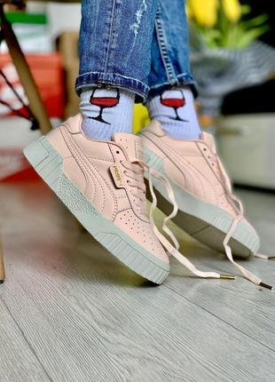 Шикарные женские кроссовки puma cali наложка