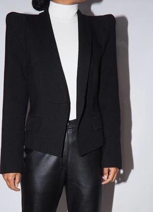 Чёрный пиджак zara аля celine, в стиле lady gaga, жакет