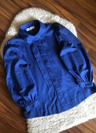 Стильная рубашка блуза see by chloe с объемными рукавами размер s цвет синий электрик