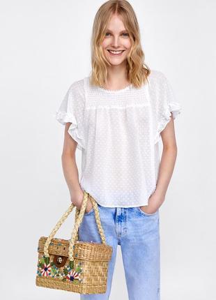 Изумительная блуза блузка плюмети от zara