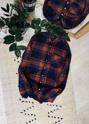 Котонова рубашка в клітинку від new look🌿