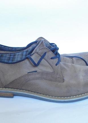 Туфли из натуральной кожи на широкую ножку р.41