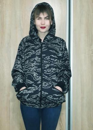 """Классная куртка-ветровка с капюшоном оверсайз на манжетах в стиле """"милитари"""" от nike"""