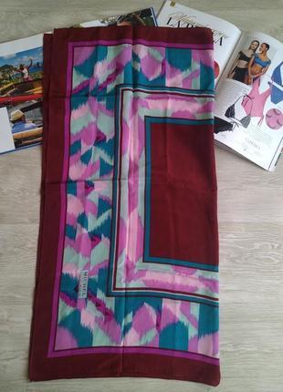 Яркий шелковый платок 100%шелк