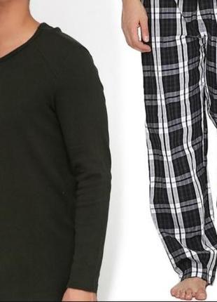 Классная мужская пижама реглан и штаны livergy s 44/46