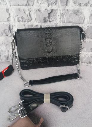 Женская кожаная сумка жіноча шкіряна клаьч кожаный