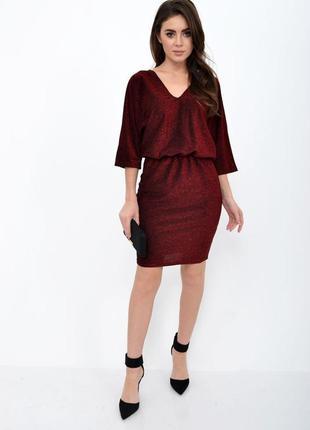 Красное женское короткое платье 38;40