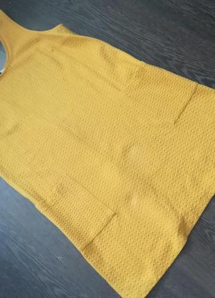 Фирменный горчично-желтый сарафан