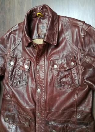 Эксклюзив!! крутейшая кожаная куртка timberland aka belstaff