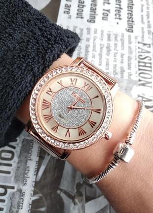 Часы наручные женские металлические золотистые серебристые годинник