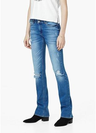 Новые джинсы с потертостями mango