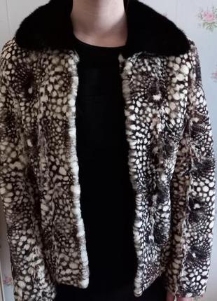 Куртка из стриженого бобра