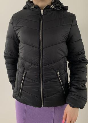 Куртка, дута, нова трендова куртка, чорна куртка, чорная куртка, куртка женская bershka.