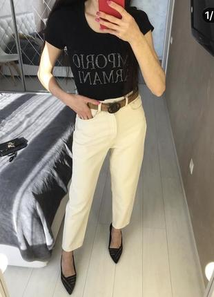 Купить модные мом,slouchy джинсы высокая посадка , slouchy 38р как zara