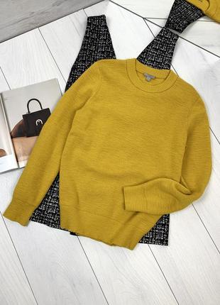 Горчичный шерстяной свитер