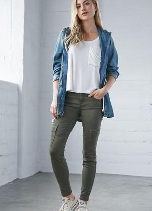 Брюки джинсы карго скини