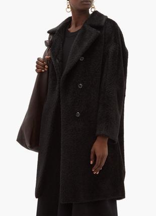 Пальто полушубок тедди оригинал max mara  альпака шерсть тренд премиум