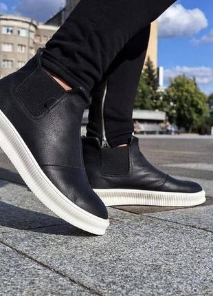 Gross мужские кожаные зимние ботинки натуральная кожа