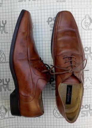 Туфли мужские кожа на шнуровке nicolabenson италия 44 размер
