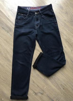 Зимние тёплые джинсы с байковой подкладкой
