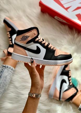 Nike air jordan 1 retro pink 🆕 шикарные кроссовки найк 🆕 купить наложенный платёж
